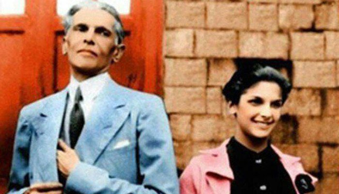 Dina Wadia and her darling papa