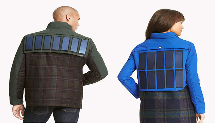 Solar Charged Jacket glows in the dark