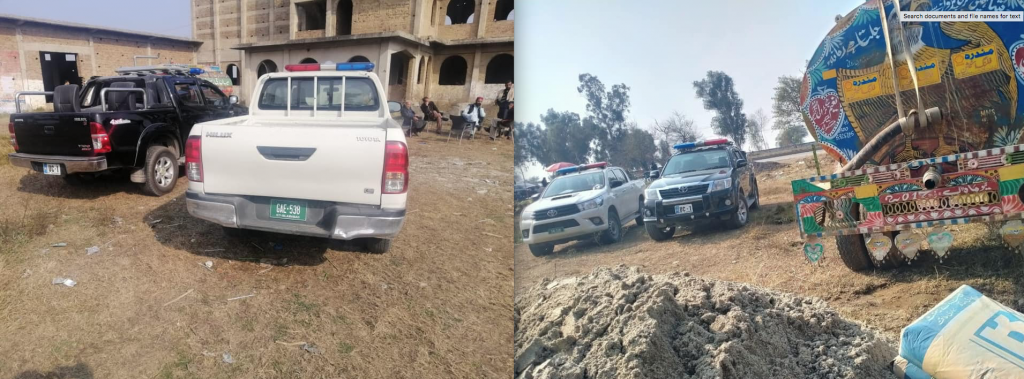 Jawad Malik visited Gujjar Khan revenue office on 13, 14, 15, 16 January escorted by Islamabad police vehicle and officials assigned for squad duty of federal minister Muhammad Mian Soomro.