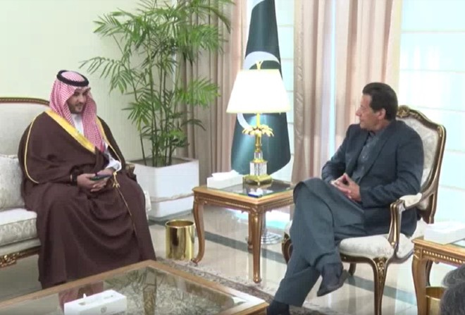 Saudi deputy defence minister calls on PM Imran; bilateral ties, Kashmir issue discussed
