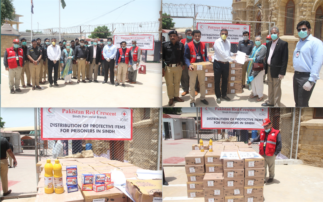 PRCS and ICRC distribute hygiene supplies at places of detention in Sindh to prevent the outbreak of COVID-19