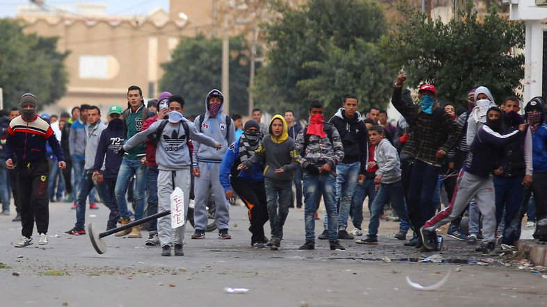 Tunisia declares nationwide curfew after protests